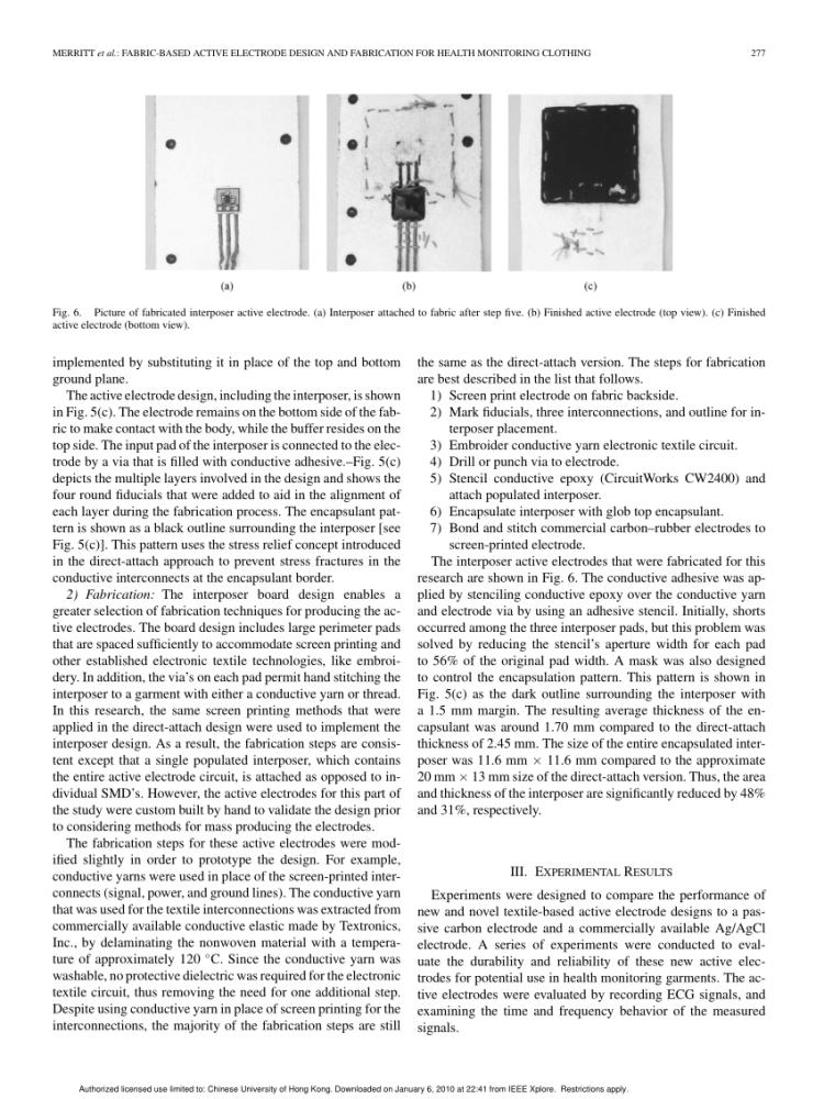 Capteur musculaire/Muscle sensor (4/6)